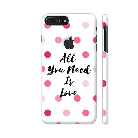 All You Need Is Love iPhone 7 Plus Logo Cut Cover | Artist: Dolly P