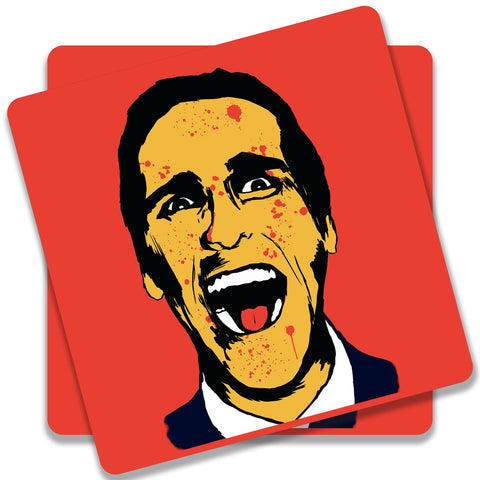 American Psycho On Red Coaster (Set of 2)