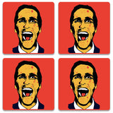 American Psycho On Red Coaster | Artist: Kaushal Faujdar