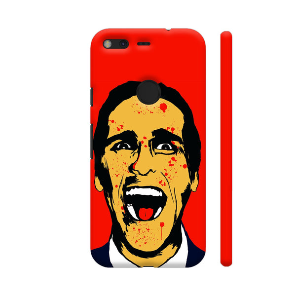 American Psycho On Red Google Pixel Cover | Artist: Kaushal Faujdar