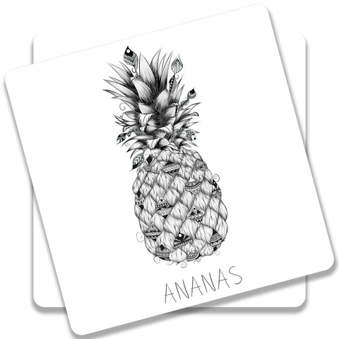 Ananas Coaster (Set of 2)