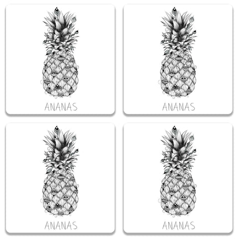 Ananas Coaster (Set of 4)