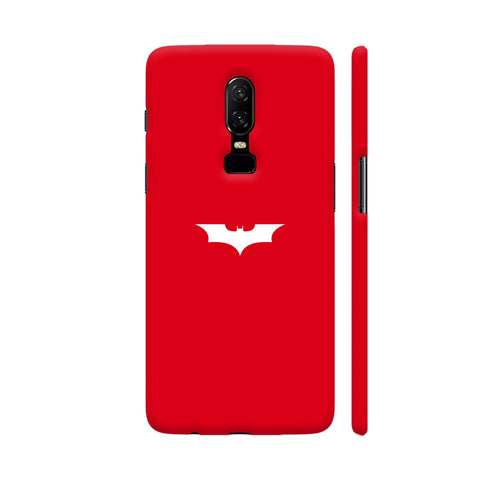 Apple Red Batman OnePlus 6 Cover | Artist: ianurag