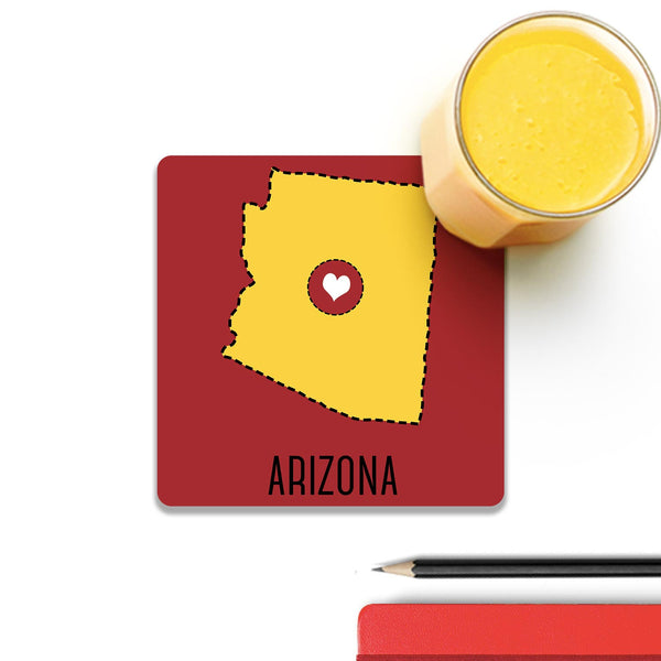 Arizona State Heart Coaster (Set of 2) | Artist: Torben