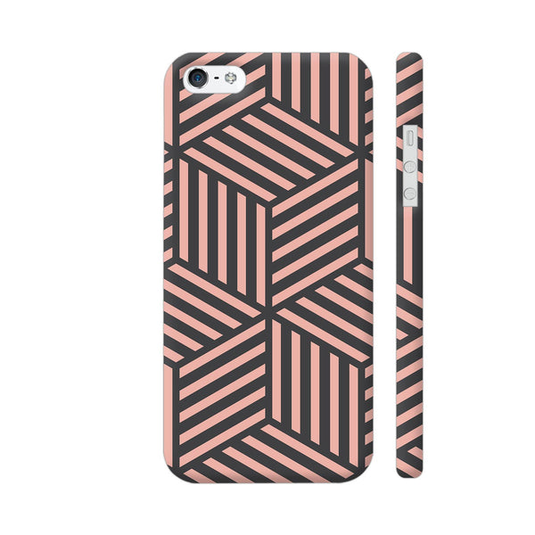 Ash And Pink Stripes iPhone 5 / 5s Cover | Artist: Adeela Abdul Razak