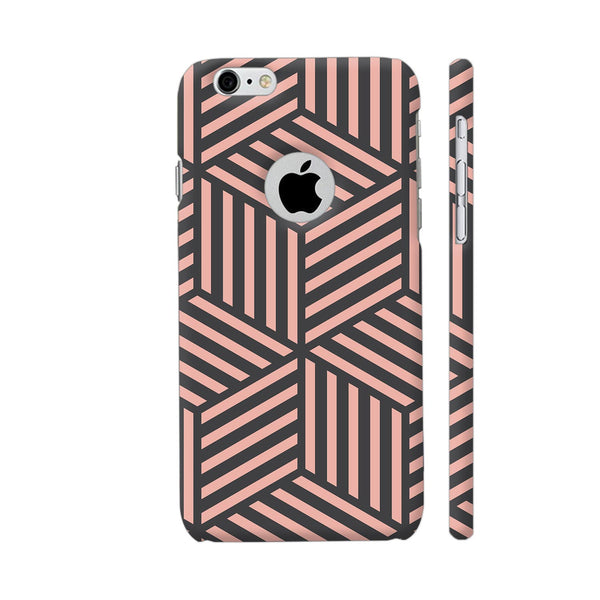 Ash And Pink Stripes iPhone 6 / 6s Logo Cut Cover | Artist: Adeela Abdul Razak