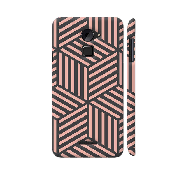 Ash And Pink Stripes Coolpad Note 3 Lite Cover | Artist: Adeela Abdul Razak