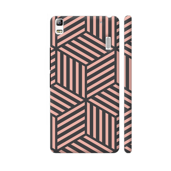 Ash And Pink Stripes Lenovo A7000 Cover | Artist: Adeela Abdul Razak