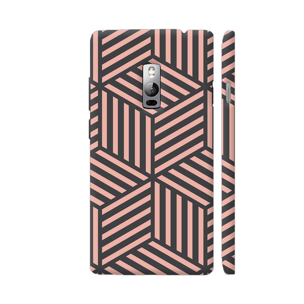 Ash And Pink Stripes OnePlus 2 Cover | Artist: Adeela Abdul Razak