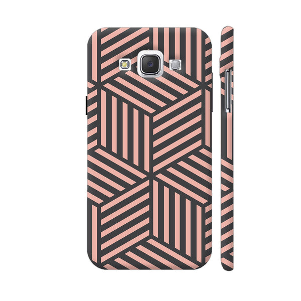 Ash And Pink Stripes Samsung Galaxy E5 Case