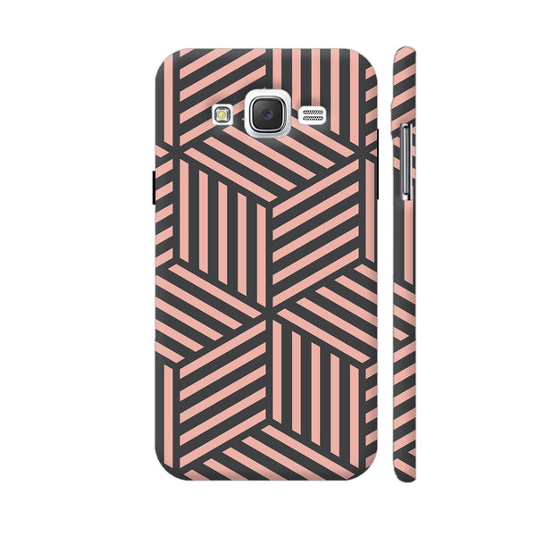 Ash And Pink Stripes Samsung Galaxy J5 Case