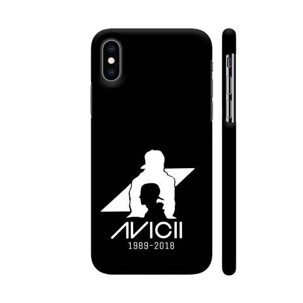 Avicii Black iPhone XS Max Cover | Artist: Mosaic Blot