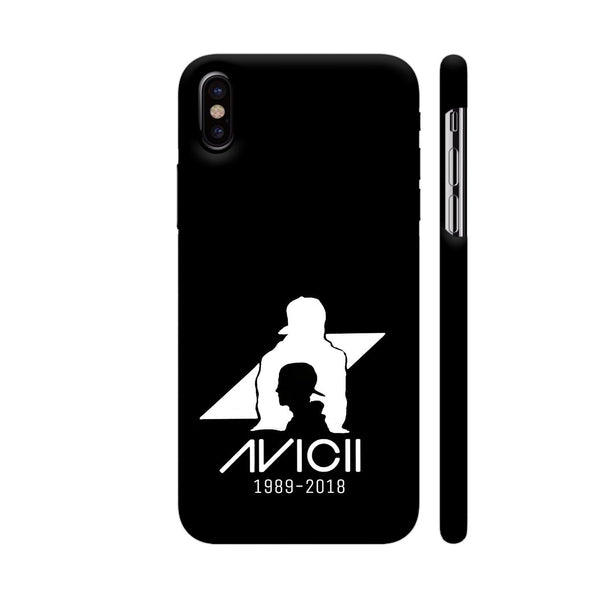 Avicii Black iPhone XS Cover | Artist: Mosaic Blot