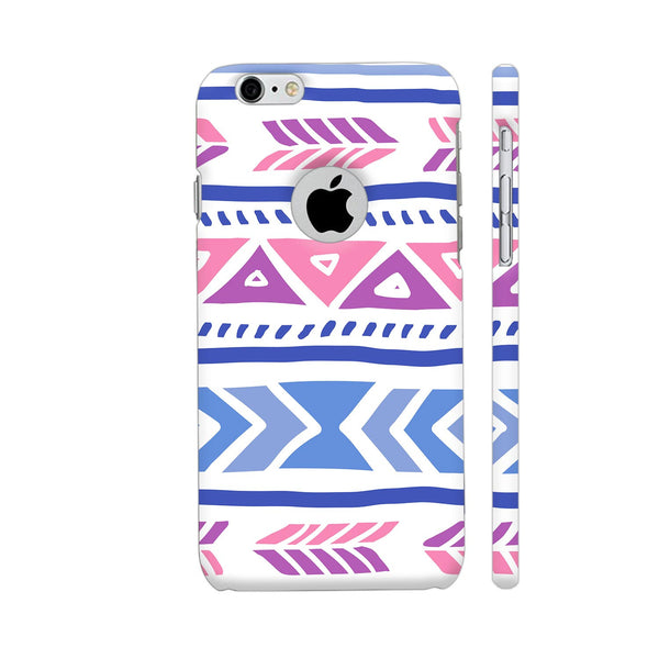 Aztec Pink Blue iPhone 6 / 6s Logo Cut Cover | Artist: Abhinav