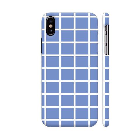 Baby Blue Big Checkers iPhone X Cover | Artist: Mita