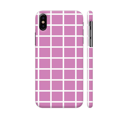 Baby Purple Big Checkers iPhone X Cover | Artist: Mita