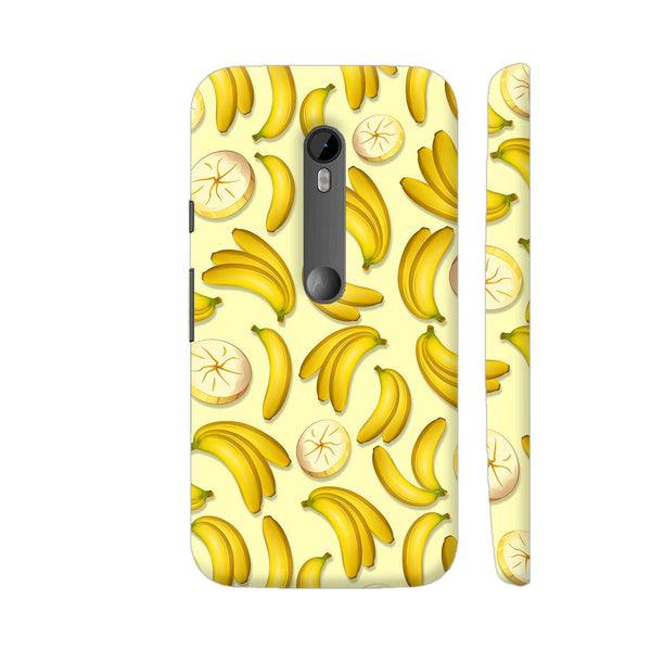 Banana Fruity Pattern Moto G3 Cover | Artist: BluedarkArt