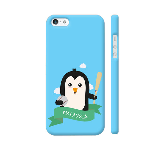 Baseball Penguin From Malaysia iPhone 5 / 5s Cover | Artist: Torben
