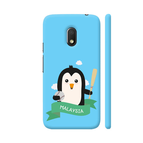 Baseball Penguin From Malaysia Moto G4 Play Cover | Artist: Torben
