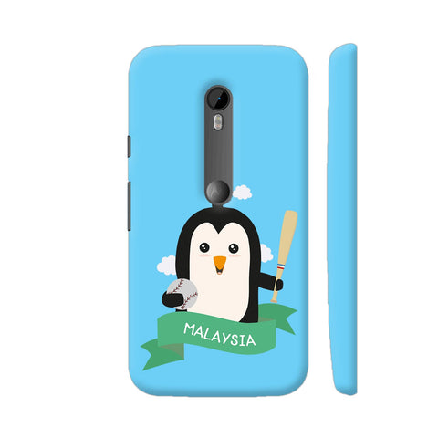 Baseball Penguin From Malaysia Moto G Turbo Cover | Artist: Torben