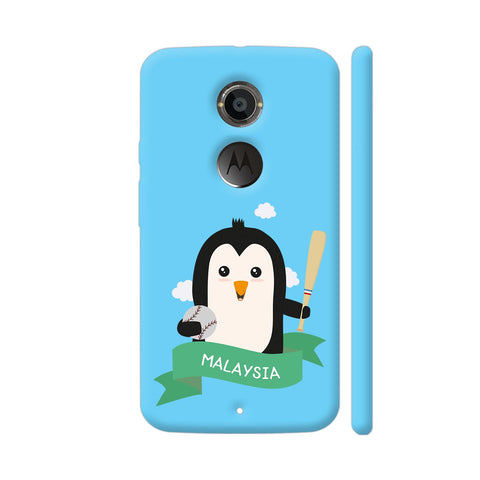 Baseball Penguin From Malaysia Moto X2 Cover | Artist: Torben