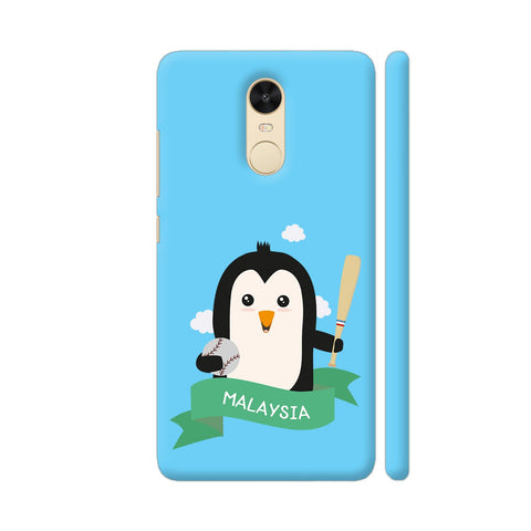 Baseball Penguin From Malaysia Redmi Note 4 Cover | Artist: Torben
