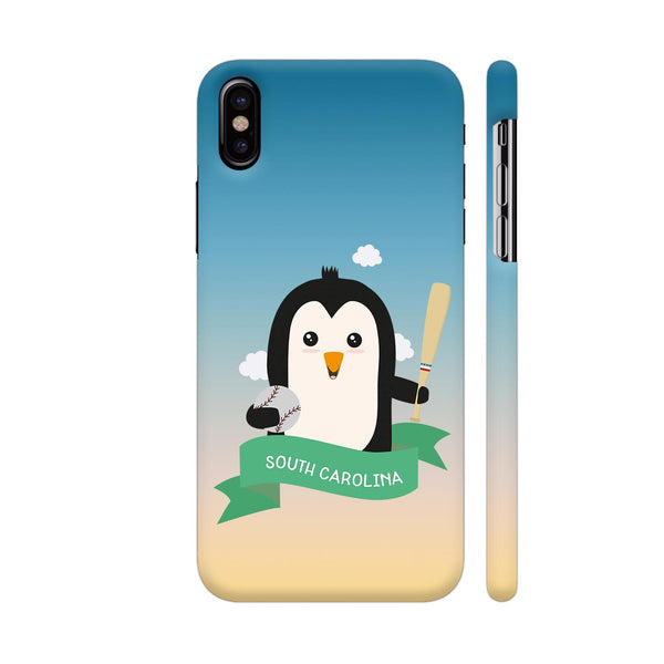 Baseball Penguin From South Carolina iPhone X Cover | Artist: Torben