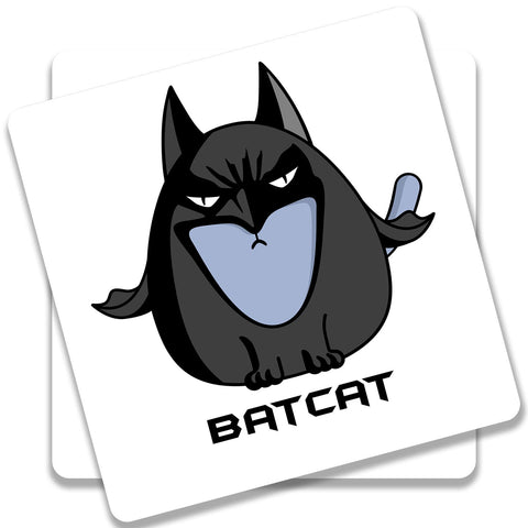 Batcat Batman The Cat Coaster (Set of 2)