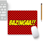 Bazingaa Red Mouse Pad Beige Base