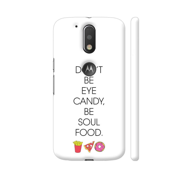 Be Soul Food Fries Pizza Donut Moto G4 / Moto G4 Plus Cover | Artist: Dolly P