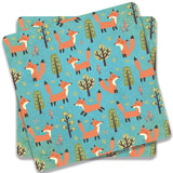 Beautiful Fox Wild Forest Pattern 3 Coaster | Artist: UtART
