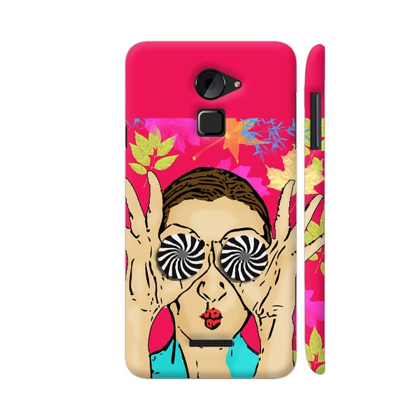 Beautiful Girl On Multicolor Flower Pattern Coolpad Note 3 Lite Cover | Artist: Sangeetha
