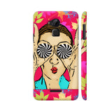 Beautiful Girl On Multicolor Flower Pattern Coolpad Note 3 / Note 3 Plus Case