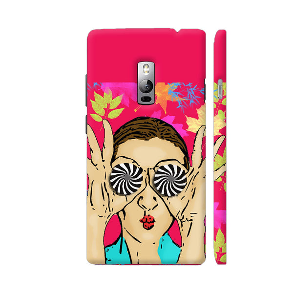 Beautiful Girl On Multicolor Flower Pattern OnePlus 2 Cover | Artist: Sangeetha