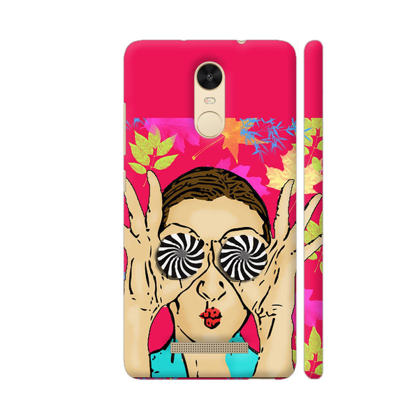 Beautiful Girl On Multicolor Flower Pattern Redmi Note 3 Cover | Artist: Sangeetha