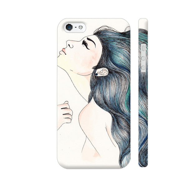 Beautiful Girl With Colored Hair iPhone SE Cover | Artist: Pritpal Singh