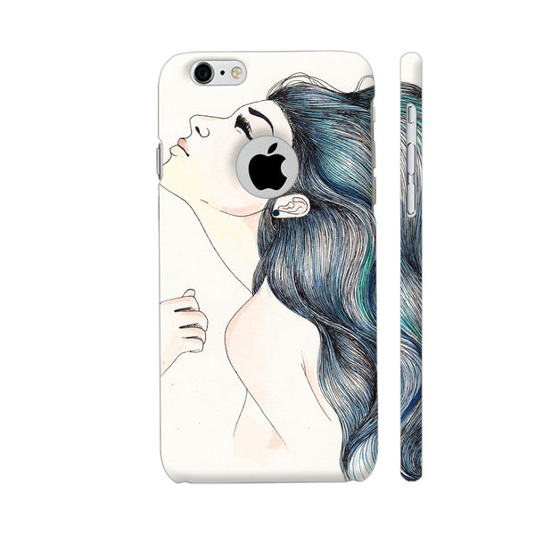 Beautiful Girl With Colored Hair iPhone 6 / 6s Logo Cut Cover | Artist: Pritpal Singh