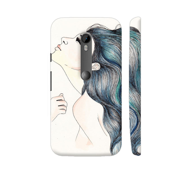 Beautiful Girl With Colored Hair Moto G Turbo Cover | Artist: Pritpal Singh