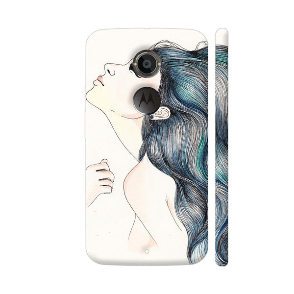 Beautiful Girl With Colored Hair Moto X2 Cover | Artist: Pritpal Singh