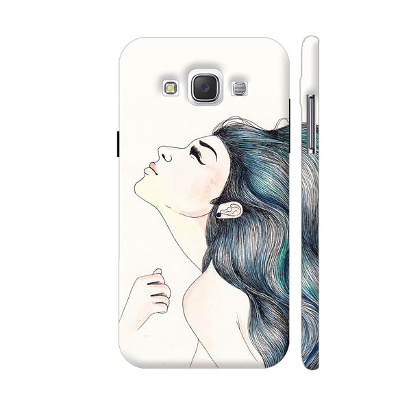 Beautiful Girl With Colored Hair Samsung Galaxy E5 Case