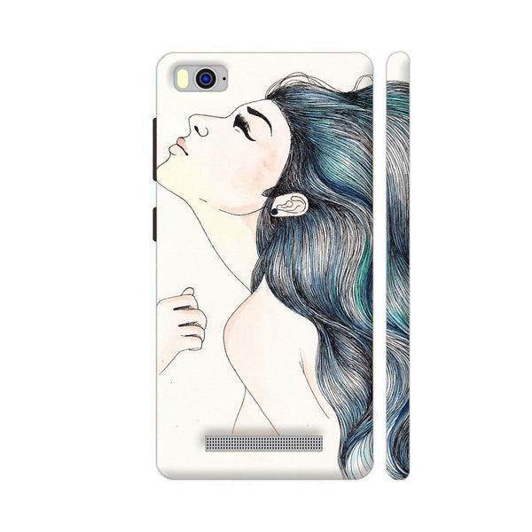 Beautiful Girl With Colored Hair Xiaomi Mi 4i Cover | Artist: Pritpal Singh