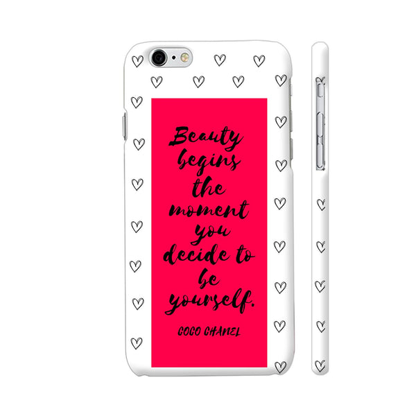 Beauty Quote By Coco Chanel On Red iPhone 6 / 6s Cover | Artist: Dolly P