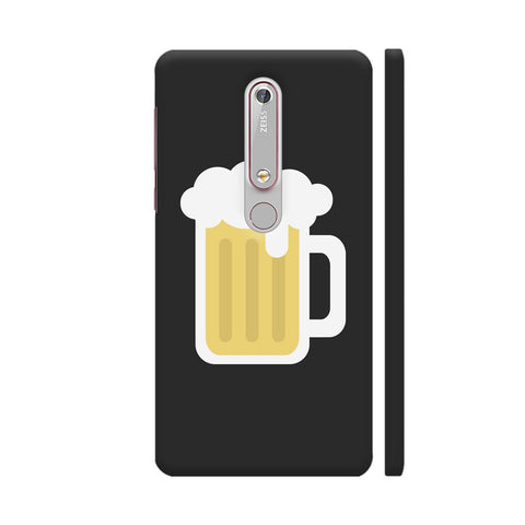 Beer Mug On Black Nokia 6.1 Cover | Artist: Paresh Godhwani