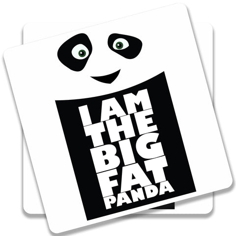 Big Fat Panda Coaster (Set of 2)