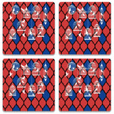 Birds By The Cage Wooden Square Coaster (Set of 2) | Artist: Abhinav