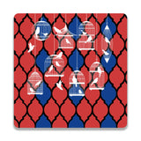 Birds By The Cage Wooden Square Coaster | Artist: Abhinav