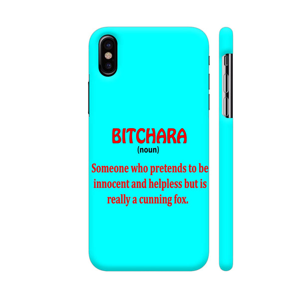 Bitchara On Blue iPhone X Cover | Artist: Malls