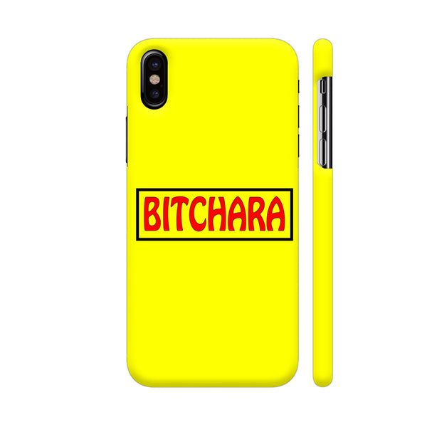 Bitchara On Yellow iPhone X Cover | Artist: Malls