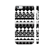 Black And White Aztec Pattern iPhone SE Cover | Artist: Sangeetha