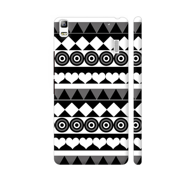 Black And White Aztec Pattern Lenovo A7000 Cover | Artist: Sangeetha